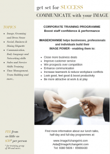 ImageXchange Business Image Training to boost Staff Confidence and Performance.  Create a Happy work environment, improve communication and effectiveness of your Work Team to Increase Business Brand