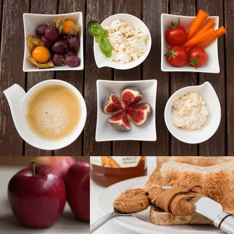ImageXchange Learn how to manage Personal Image. Wanna Look Good?  Don't Worry, Eat Happy.  Let's eat hummus, apple, water, peanut butter and carrots for healthy snacks